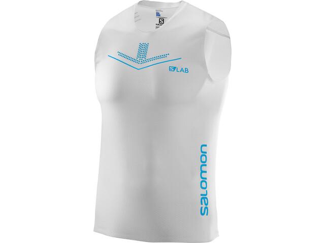 Salomon S/LAB Sense Hardloopshirt zonder mouwen Heren wit